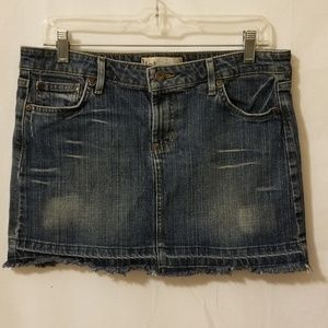LEI Denim Skirt Distressed/frayed size 13